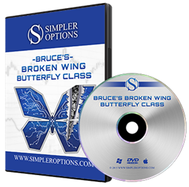 Advanced option trading with broken wing butterflies